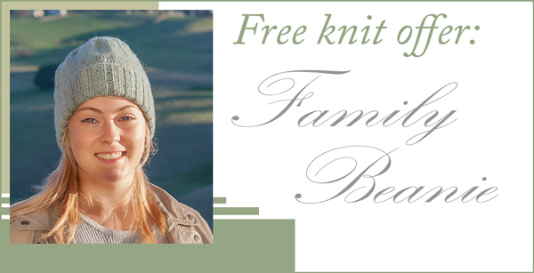 Free Knit Family Beanie In Alpaca Yarn Knitting Yarns By Mail